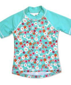 majica s kratkimi rokavi rožasta