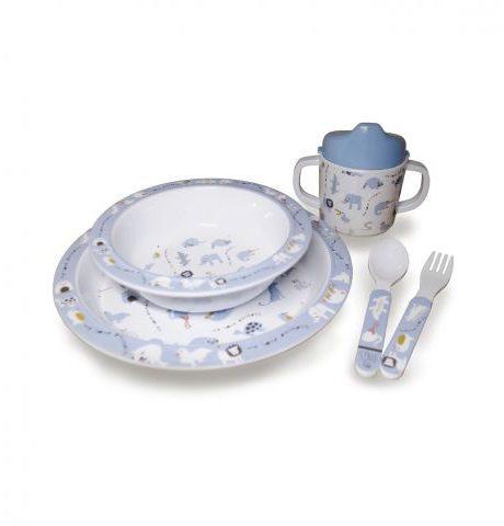 Set za prehranjevanje Animals Blue 2