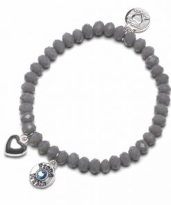 Zapestnica charm [grey] blue