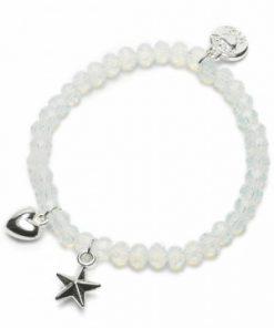 Zapestnica charm star/heart ice