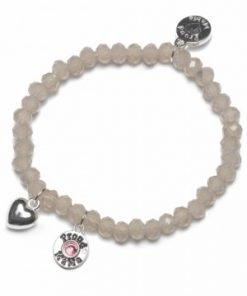Zapestnica charm [taupe] pink