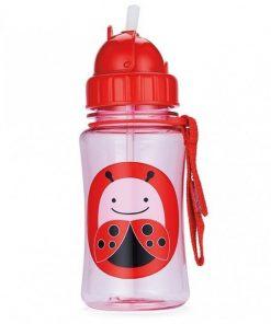 Steklenička s slamico - pikapolonica