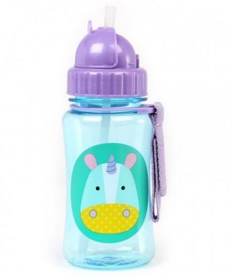 Steklenička s slamico - samorog