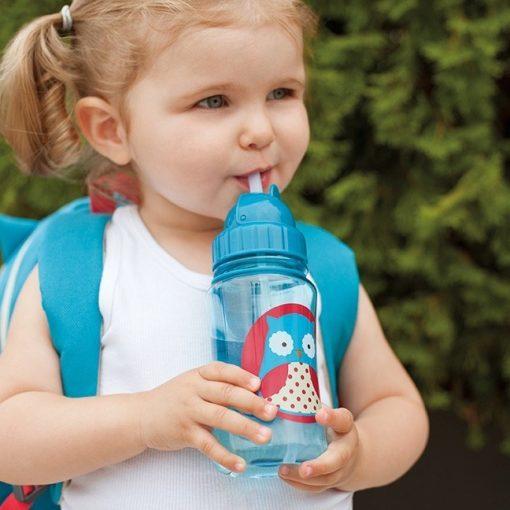 Steklenička s slamico - sovica 2
