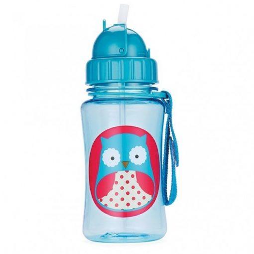 Steklenička s slamico - sovica