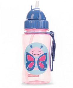 Steklenička s slamico Skip Hop- metuljček