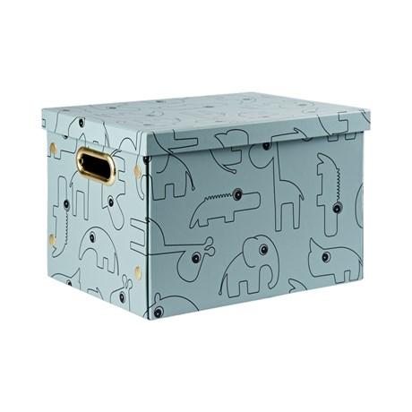 Done by Deer - zložljiva škatla za shranjevanje Contour, blue
