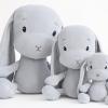 Effiki plišasti zajček – Siv M (35 cm)