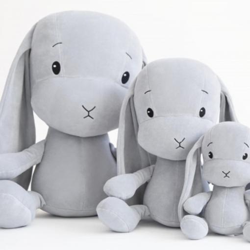 Effiki plišasti zajček - Siv M (35 cm)