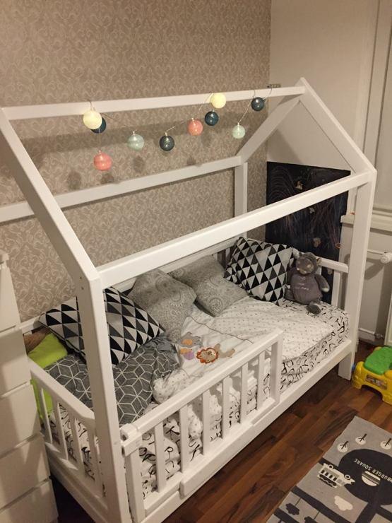Lesena otroška postelja po meri.