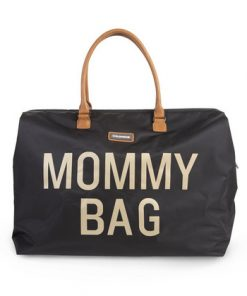 Torba Mommy Bag Big Black Gold Childhome