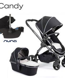Otroški voziček 3v1 iCandy Peach, Beluga, kromirano ogrodje + Nuna Pipa Icon, Caviar