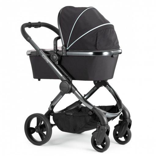 Otroški voziček 3v1 iCandy Peach, Beluga, kromirano ogrodje + Nuna Pipa Icon, Caviar 3