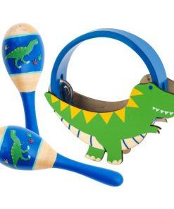 Glasbeni set Dino zelen