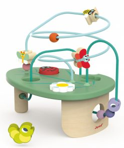 Otroška lesena igrača JANOD_Aktivnostna spirala Pomlad