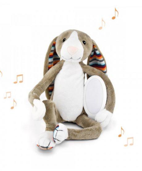 mehka igrača z lučko in zvoki zajček