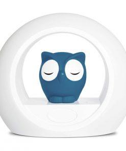 pametna nočna lučka sovica modra