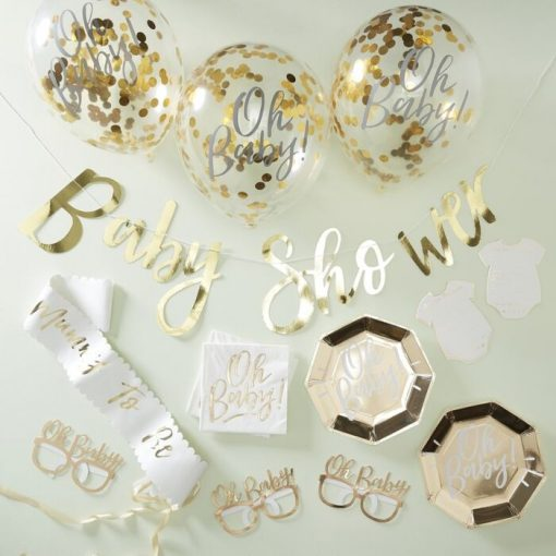 Ginger Ray® Baby Shower Party Set - Gold
