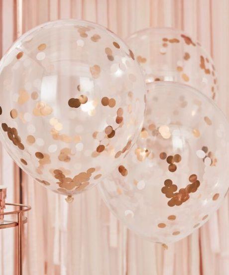 Ginger Ray® Baloni s konfeti - Giant Rose Gold