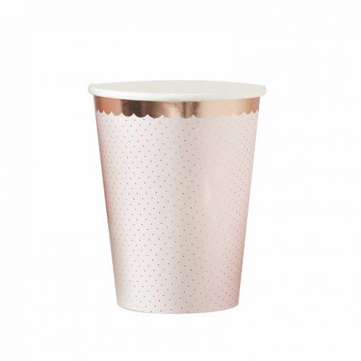 Ginger Ray Ginger Ray® Papirnati kozarčki - Ditsy Floral - 8 kosov