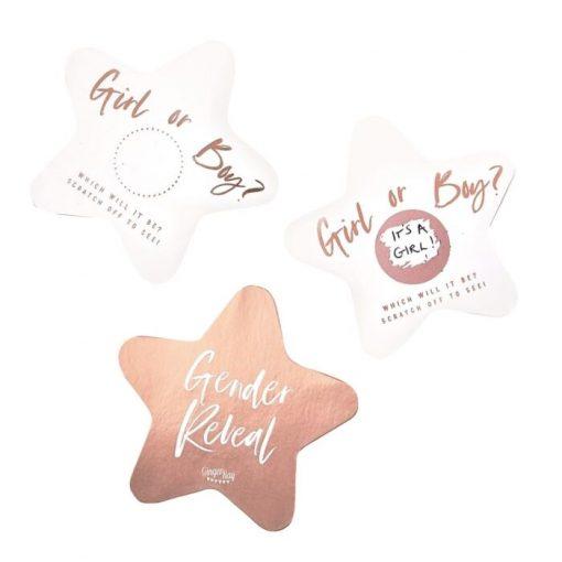 Ginger Ray® Twinkle Twinkle kartice za ugibanje spola