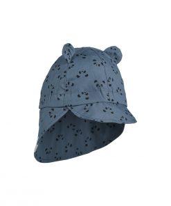 LIEWOOD Klobuček Gorm - Panda Blue Wave