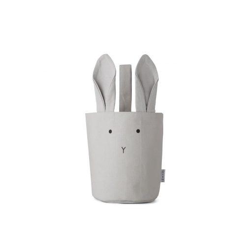 LIEWOOD košara - Rabbit Dumbo Grey