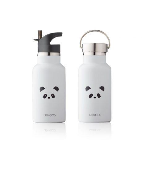 LIEWOOD termo steklenička - Panda, Light Grey