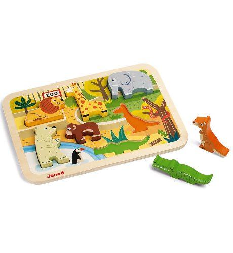 Lesena sestavljanka - Živalski vrt