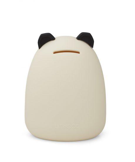 LIEWOOD® Otroški hranilnik iz silikona Palma Panda Creme